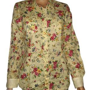 l.e.i. cotton snap up blouse NWT